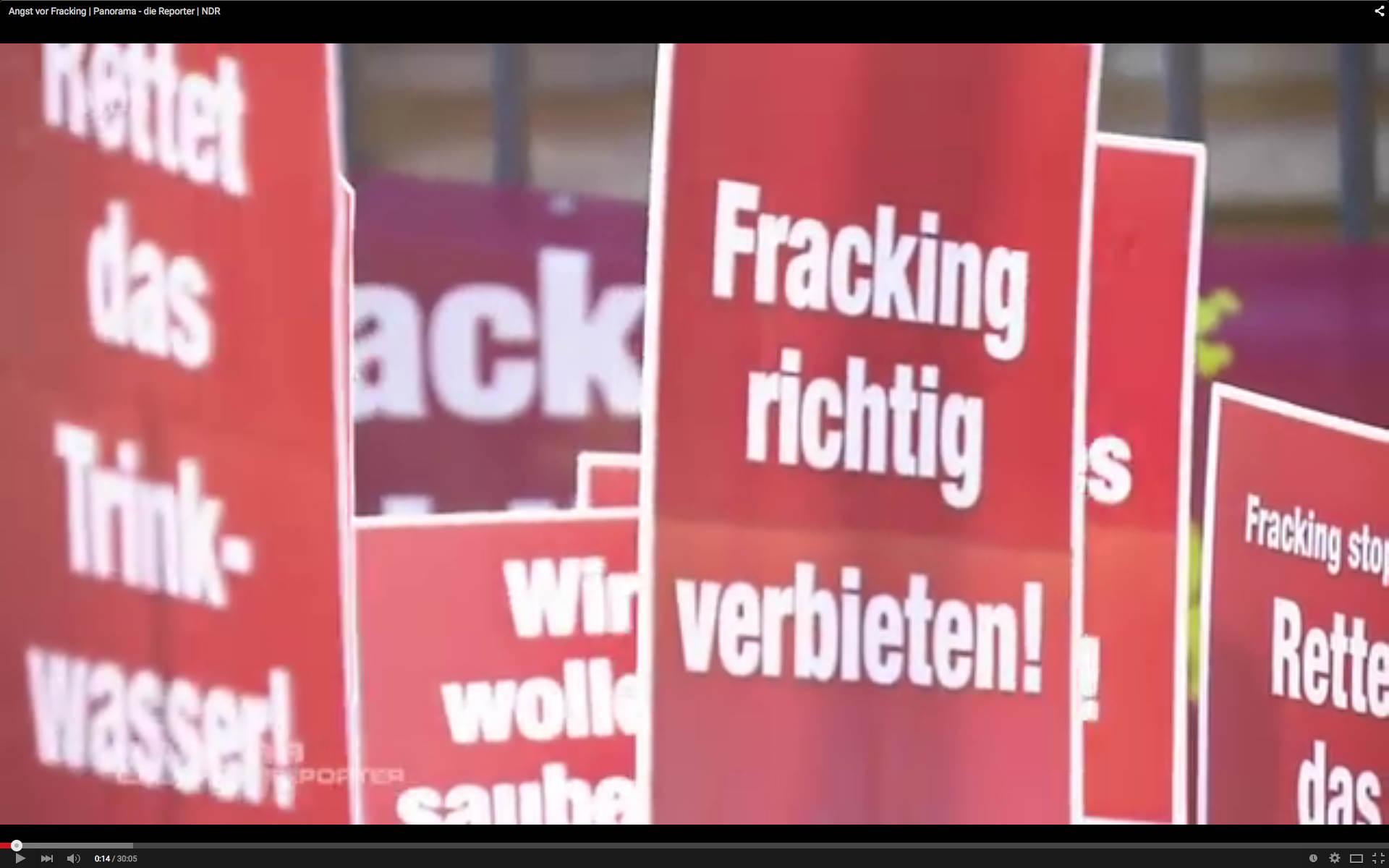 "Sccreenshot ""Angst vor Frackin"", Reportage Panorama, NDR"